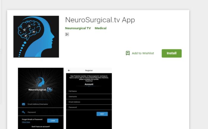 NeuroSurgical.tv - Android App Design & Development