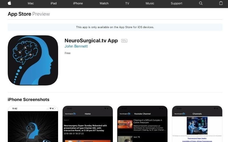 NeuroSurgical.tv - iOS App Development
